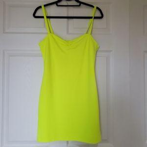 H&M neon mini dress. Size M. Worn once!